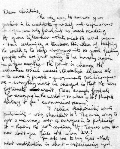 John Lennon autograph letter to Christians