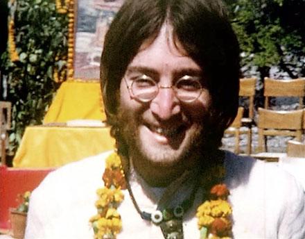 john Lennon en Inde en 1968