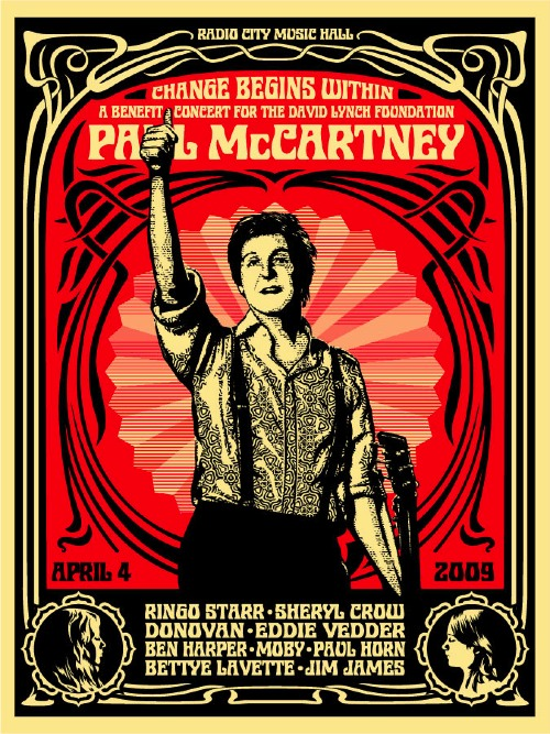 Change Begins Within official poster by designer Shepard Fairey