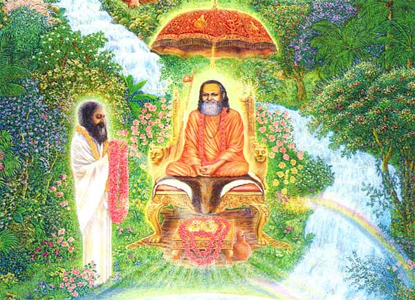 Maharishi etrenal devotion to Guru Dev